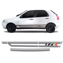 Jgo Faixa Adesivo Lateral Fiat Palio 2003 A 2007 1.8r G3