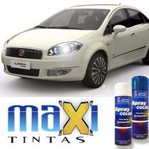 Tinta Spray Automotiva Fiat Branco Kalahari+ Verniz 300ml