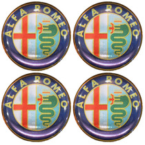 Logo Tipo Alfa Romeo P/ Calota Ou Roda C/4 Peças 58mm