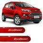 Friso Lateral Novo Ford Ecosport 2016 Vermelho Arpoador