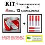 Kit Faixa Refletiva Parachoque + 12 Lateral Avery Caminhão