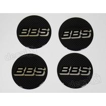 Emblema Adesivos Centro Roda Bbs 70mm Carbono Resinado Re54