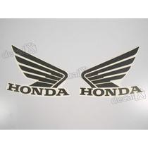 Adesivos Asa Honda Tanque Hornet 2013 Preto/dourado - Decalx