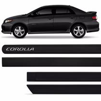 Friso Lateral Toyota Corolla 08 09 10 11 12 13 14 Preto