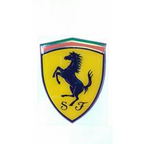 Emblema Brasão Ferrari Resinado - 80x60 Mm
