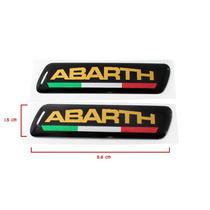 Par De Emblema Adesivo Fiat Abarth Coluna Porta Punto Bravo