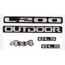 Emblemas Adesivos Resinados L200 Outdoor. Preço Dos Cinco.
