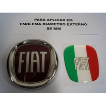 Aplique Italia Resinado Para Emblema Original 95 Mm Fiat