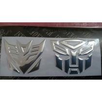 Adesivo Tuning Transformers Autobot + Decepticons - Prata