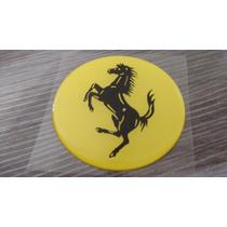 Emblema Unid. Centro De Roda/calota 90mm Ferrari Amarelo