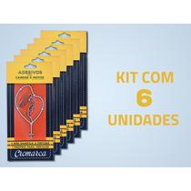 Kit 6 Adesivos Pequenos Cromados Terço Nossa Senhora