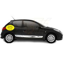 Faixa Lateral Adesivos Sport Peugeot 206 207 2 P. Acessórios