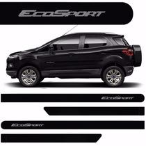 Friso Lateral Ford Ecosport 2013 A 2015 Preto Ebony *