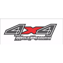 Emblema Adesivo 4x4 Max Power Ford F250 Prata Ou Preto