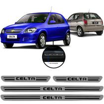 Jogo Soleira Resinada Chevrolet Celta 4 Portas 2003/...