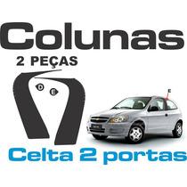 Colunas Adesivo Backout Celta 2portas + Frete Grátis