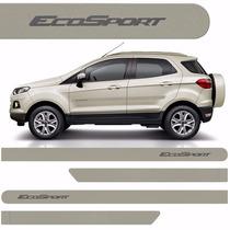 Friso Lateral Ford Ecosport 2013 A 2015 Prata Riviera *