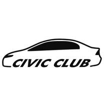 Adesivo Decorativo Parabrisa Carro Club - Honda Civic Clube