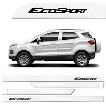 Friso Lateral Ford Nova Ecosport 2013 A 2016 Branco Ártico .