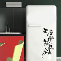 Adesivo Parede Geladeira Cozinha Box Floral Borboleta - 2 Un