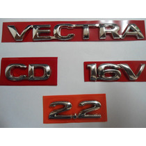 Kit De Emblema P/ Vectra + Cd + 2.2 + 16v 96/... - Bre