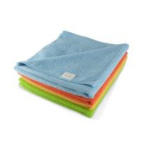 Kit 4 Panos Flanela Microfibra Limpeza Carro Polimento