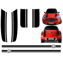 Kit Adesivo Lateral Capo E Porta Malas Mini Cooper 02 A 2012