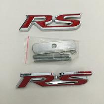 Conjunto De Emblema Rs Gm Ford Fiesta Ka Fusion Cruze Sonic