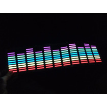Adesivo Equalizador Led Car Music 45x11cm Parabrisa Do Carro