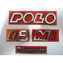 Kit Emblemas Polo Classic 1.8 Mi - 91 / 97 - Mmf Auto Parts