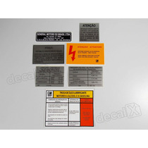 Kit Adesivos Etiquetas Motor Chevrolet Monza - Decalx