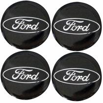 Calotinha Resinada Ford Preto P/calota Ou Roda 4 Peças 51mm