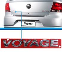 Letreiro Emblema Voyage G5 G6 2010 A 2015 Cromado