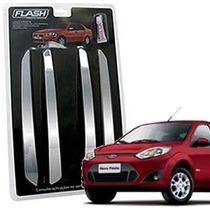 _friso Para-choque Cromado Fiesta Sedan 2004 2005 06 Jg 4pçs