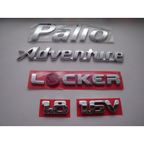 Kit Emblemas Palio + Adventure + Locker + 1.8 + 16v - Bre