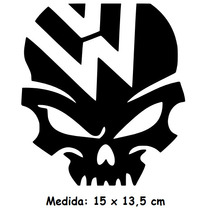 Adesivo Carro Antigo Vw Caveira Fusca Kombi Hoodride Svw-01