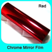 Pelicula Insulfilm Vermelho Espelhado 0,75x2,5m Profissional