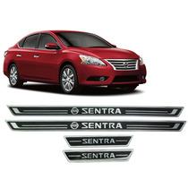 Jgo Soleira Resinada Preta Nissan Sentra 2015 2016