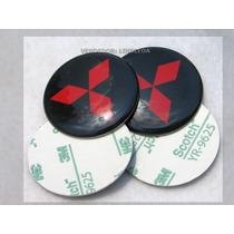 56mm Emblemas Centro Rodas Blk Mitsubishi Eclipse Lancer Gt