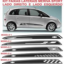 Acessorios Meriva Sport Gm Chevrolet Adesivo Faixa Lateral