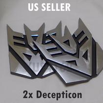 Adesivo Tuning Pvc Transformers Decepticons Emblema Par