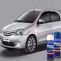 Tinta Spray Automotiva Toyota Prata Soul + Verniz