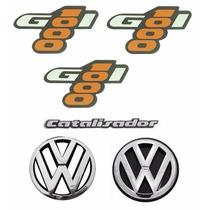 Adesivos + Emblemas Gol Quadrado 1000 - Modelo Original