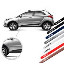 Jogo Friso Lateral Hyundai Hb20x Vermelho Branco Prata Cinza