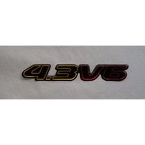 Emblema Resinado 4.3 V6 Blazer S10 Executive 2000 Mmf