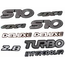 Kit Completo De Emblemas Da S10 2001 A 2004