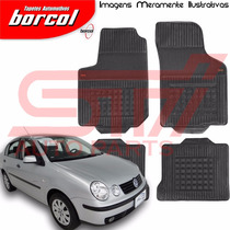 Tapete Borracha Interlagos Polo Sedan 2003 2004 Borcol 4 Pçs