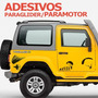 Adesivo Paraglider / Paramotor - Voo Livre - Várias Cores