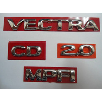 Kit De Emblema P/ Vectra + Cd + 2.0 + Mpfi 96/... - Bre