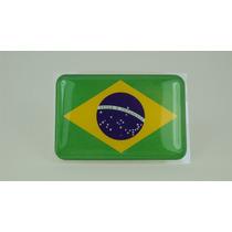 Bandeira Bandeirinha Resinada Do Brasil Adesivo Linda